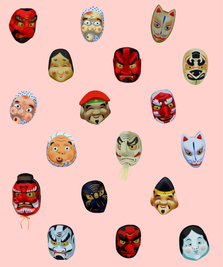 Masks Asakusa pattern finished - nelidazubia | ello