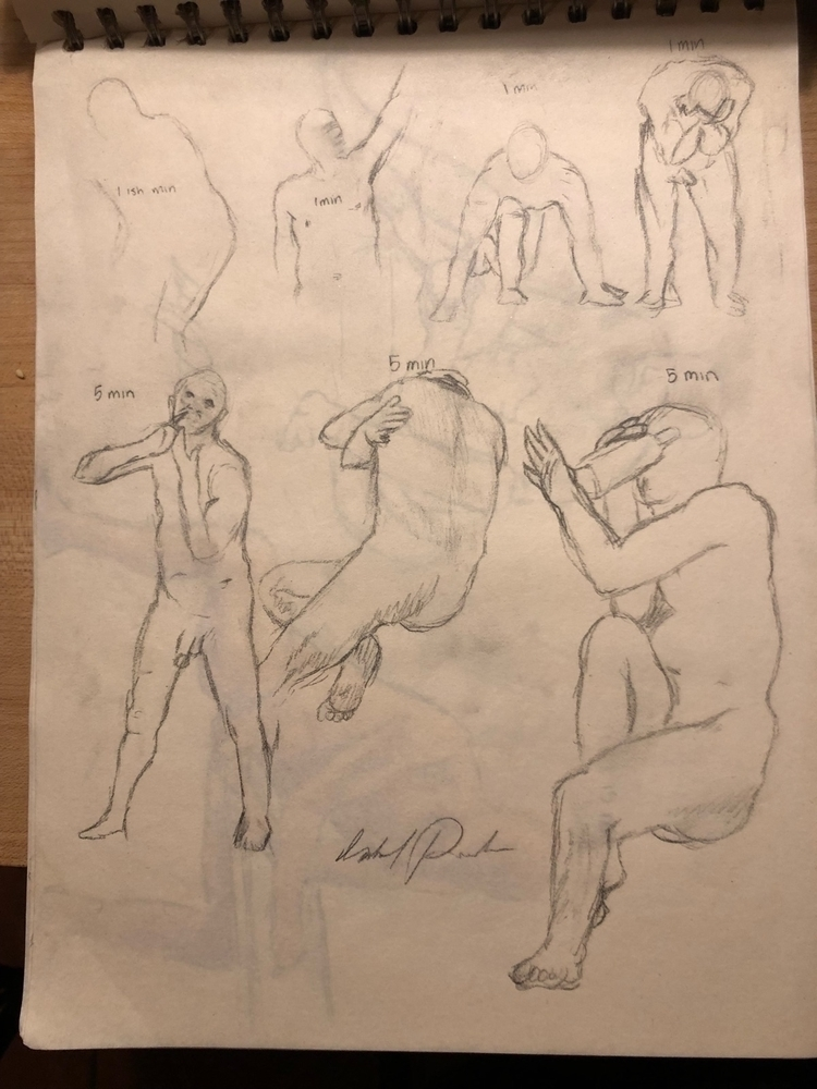 Life drawing - pencil, lifedrawing - izzyvp | ello