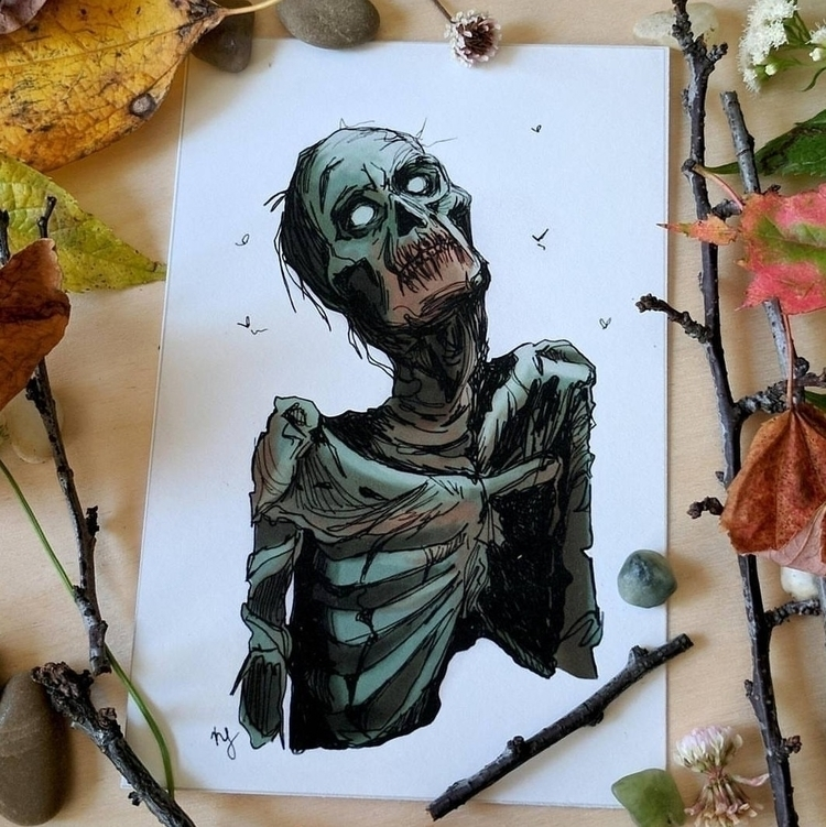 zombie • kris lorraine - illustration - krislorraine | ello
