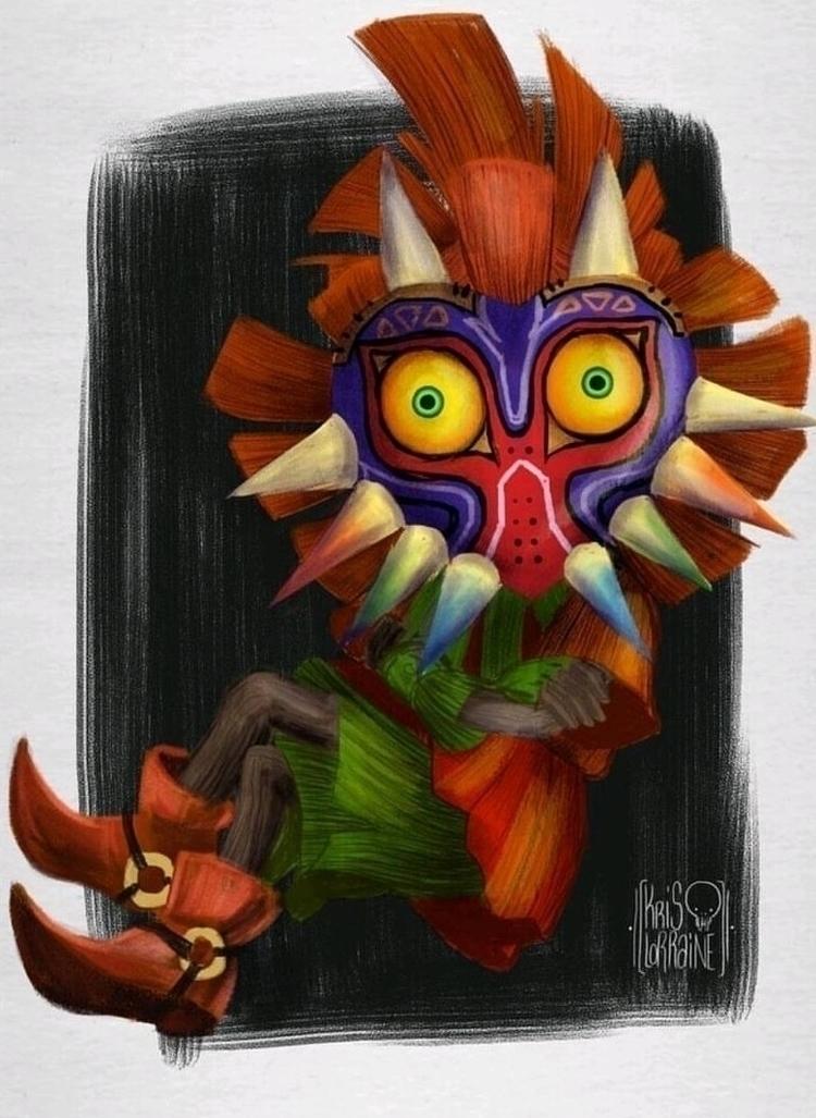 skull kid • mask kris lorraine - krislorraine | ello