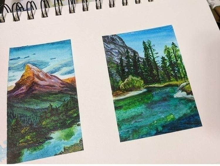 landscape studies • watercolor  - krislorraine | ello