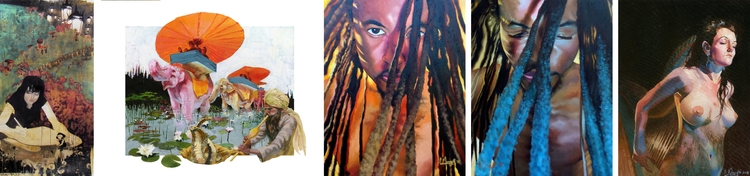 Claire Menegatti, LA artist; ex - menegattiart | ello