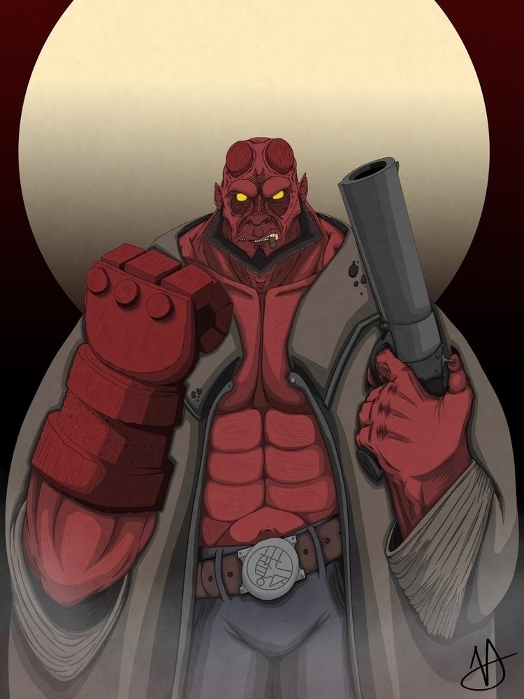 Hellboy - Dominic Vizdos - art, artist - dvizdosart | ello