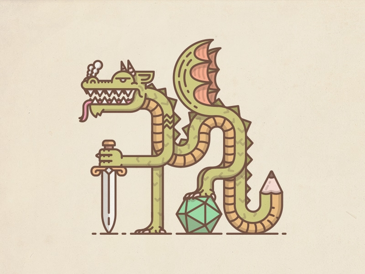 Pen Paper Dragon - chrs | ello