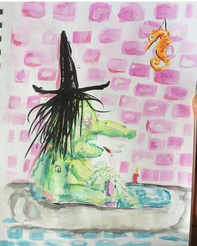 """Millennial Witch practicing ca - damianrivera | ello"