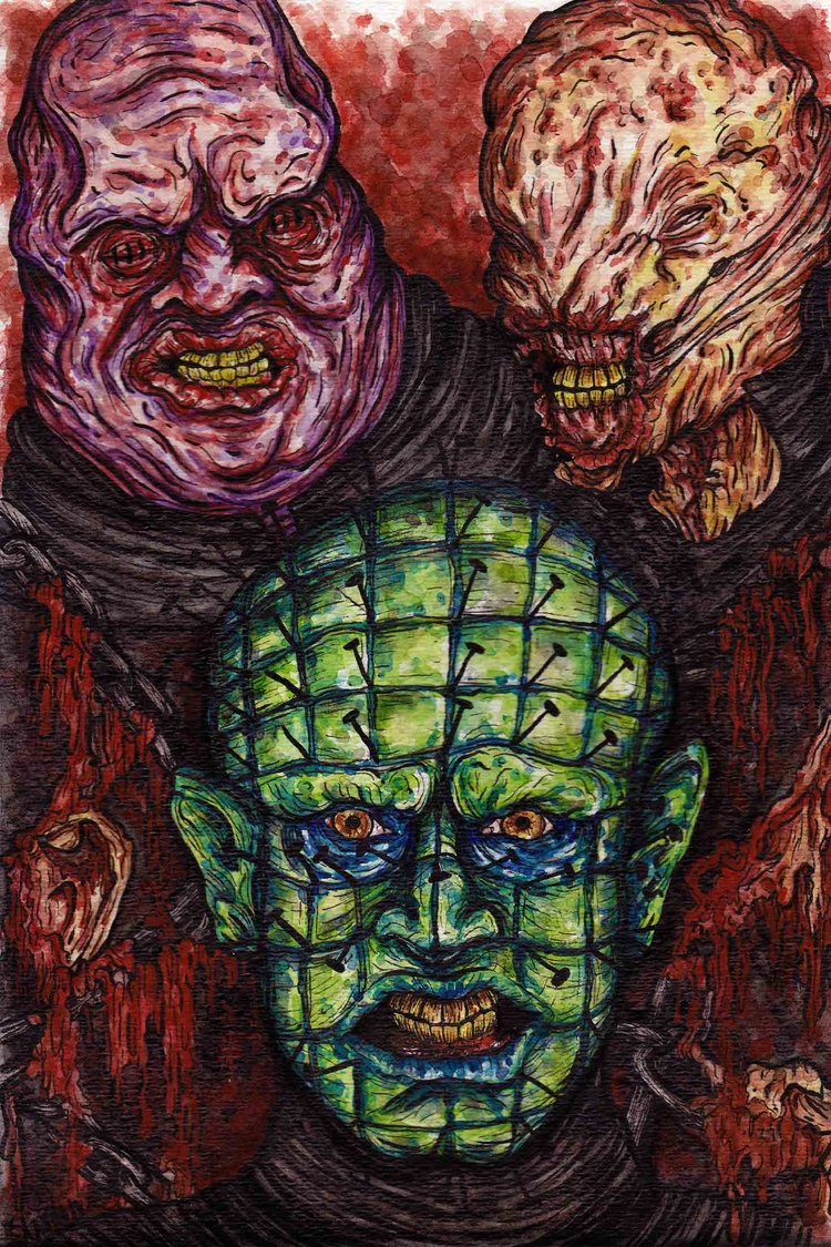 Hellraiser - art, horror - unusualmonsters | ello