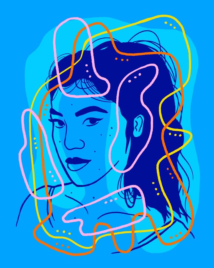 Shufflin' Gaze - illustration, illustrator - heybop   ello