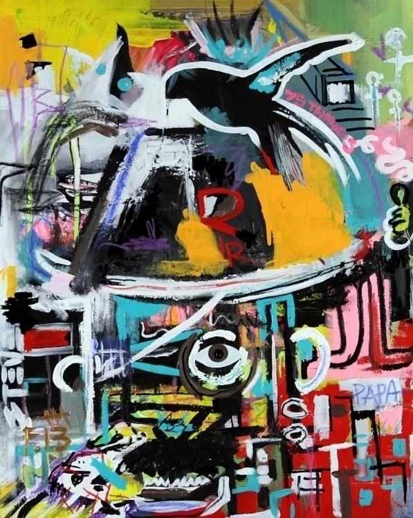 Pappa Art 13 Mixed Media Canvas - bitfactory | ello