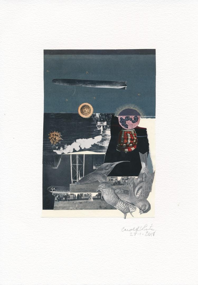 wonderful piece Carol Reid Whit - papiergedanken-collage-art   ello