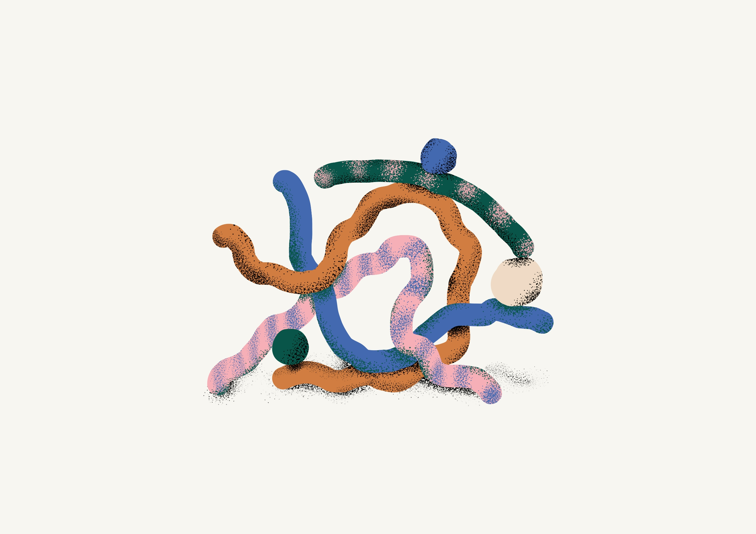 Forms worms - ilustration, shapes - juanbar | ello