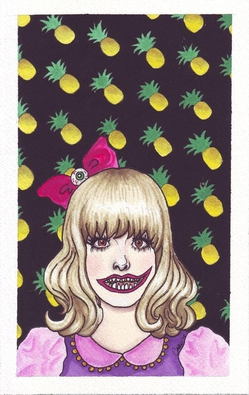 Kyary - watercolor, gouache, portrait - otterglitter | ello