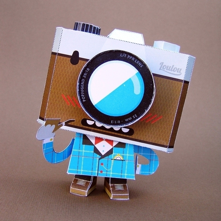 Dr. Iso :scissors:️ - papertoy, characterdesign - louloutummie | ello