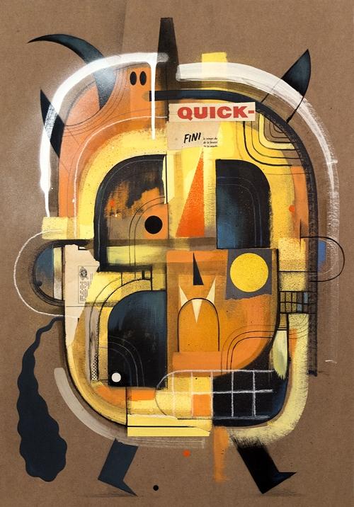 ' QUICK Mixed media ( acrylic,  - niark1 | ello
