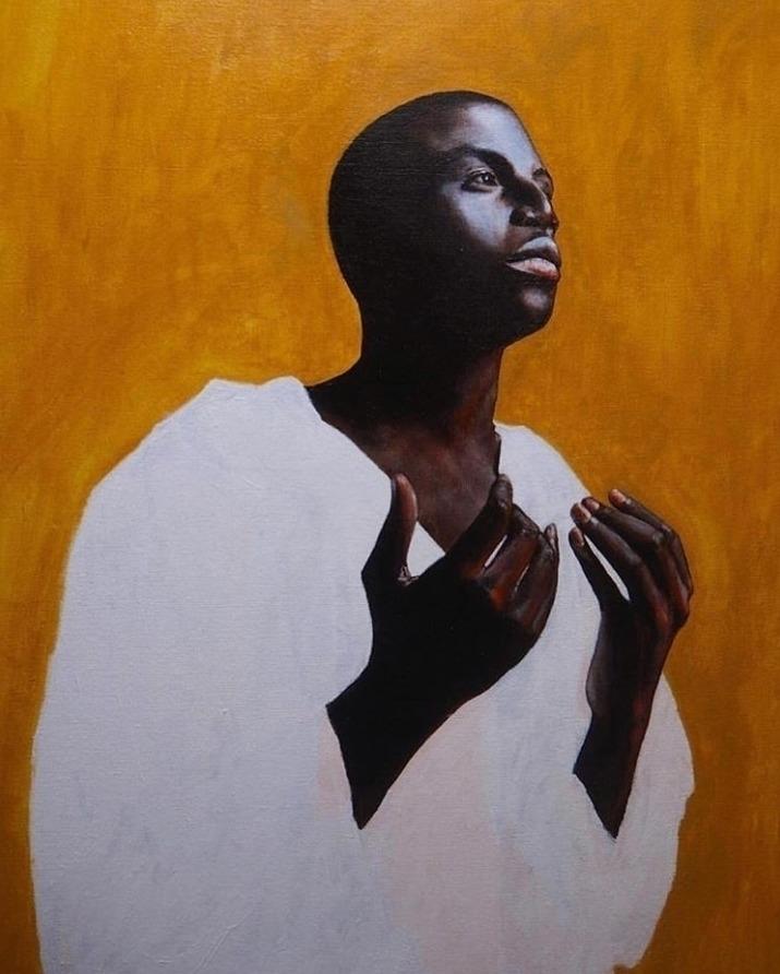 Josué Comoe Prayer, 2017 Acryli - rlegacy | ello