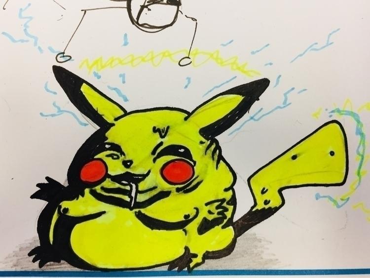 drew 'classic' Pikachu. childre - scridgexiii | ello
