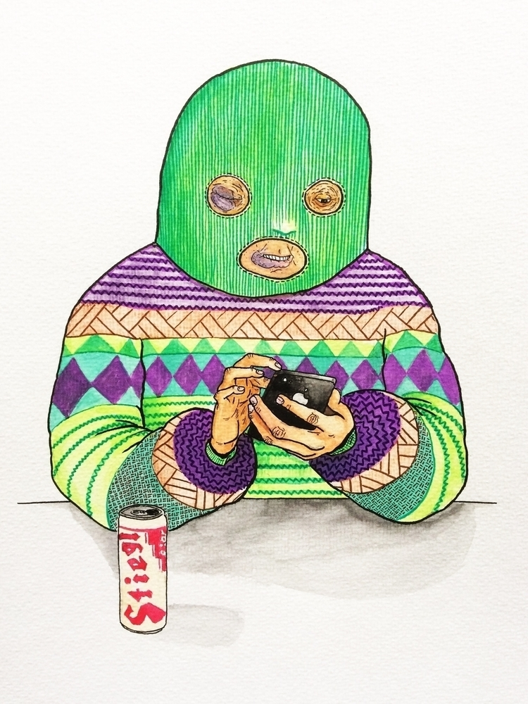 series Sweatermen. Watercolor I - deadbeathero | ello