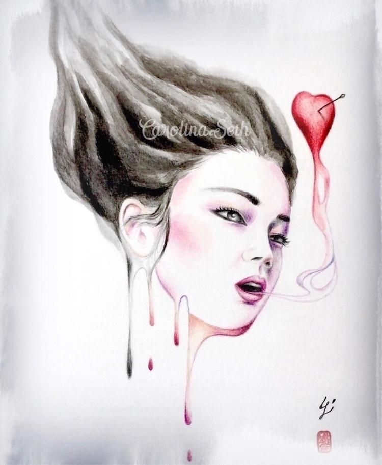 "thin line love death."" - Cosond - carolinaseth | ello"