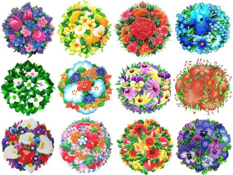 Watercolor Bouquets - liviamyers | ello
