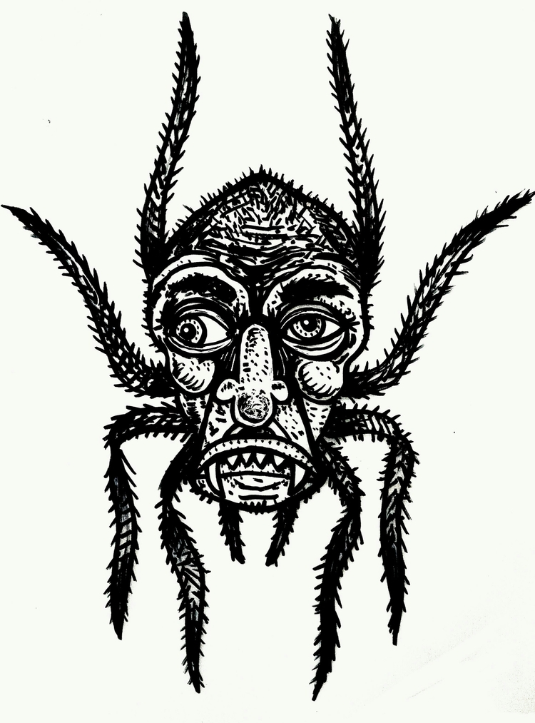 drawing, illustration, spider - hellagrimey | ello