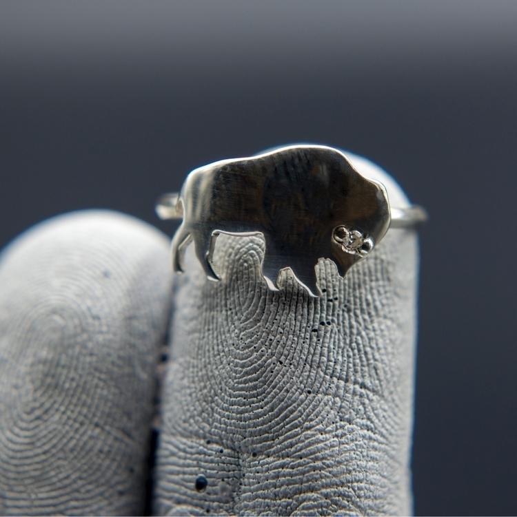 buffalo silver ring diamond eye - hectorcm | ello