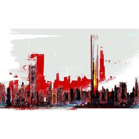 Dubai Skyline Artwork Simon Maa - mondagallery   ello