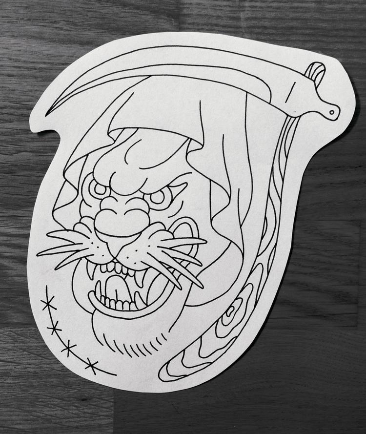 Panther-Reaper - illustration, panther - minkstorchel   ello