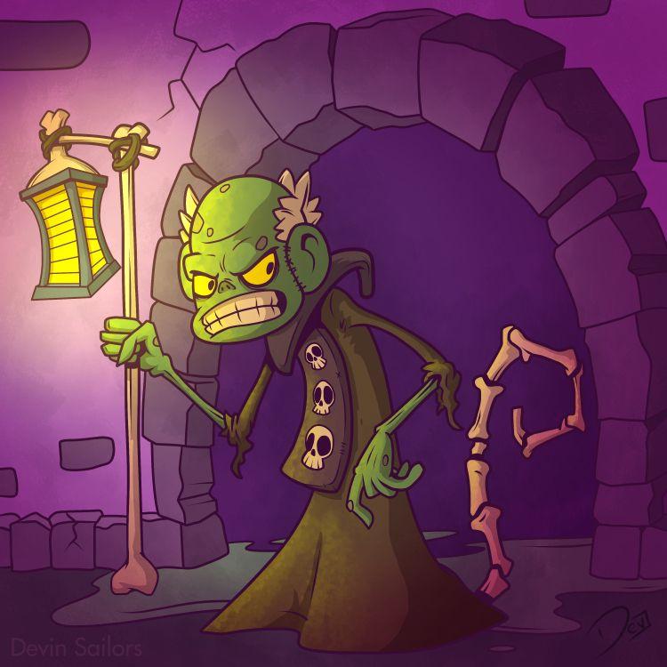 Monkey Necromancer - illustration - devinsailors | ello