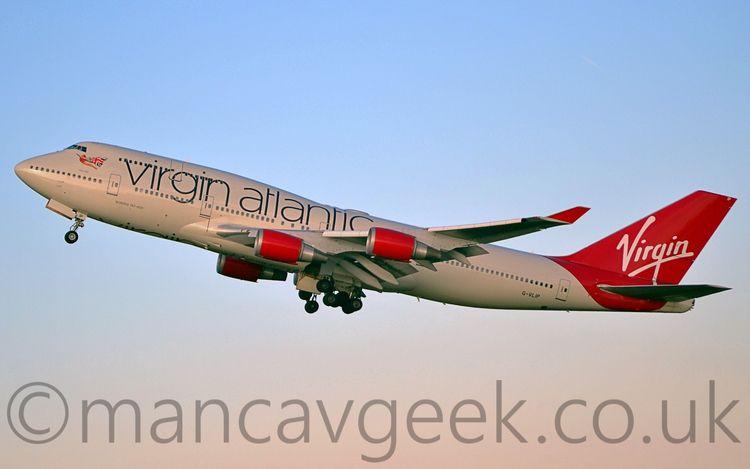Virgin B747-400 departing Manch - mancavgeek | ello