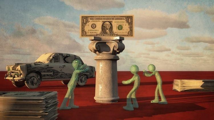 Almighty Dollar - art, illustration - alanbrownone | ello