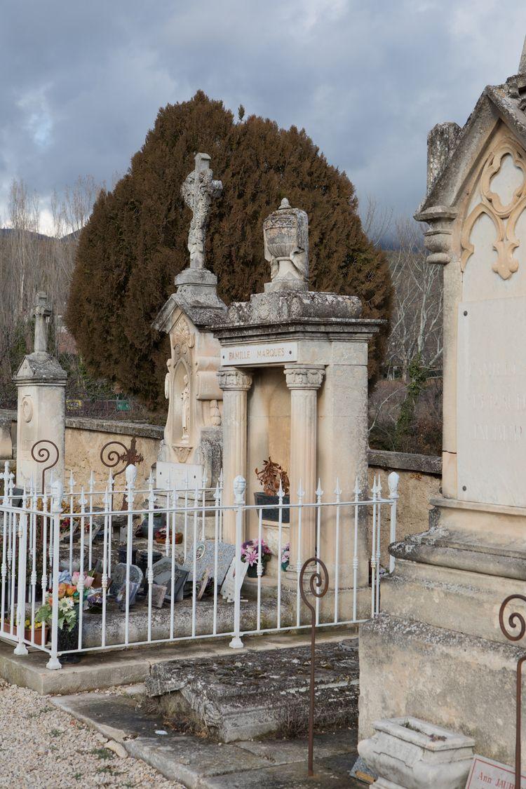 Headstones, Cemetery, Cucuron,  - odouglas | ello