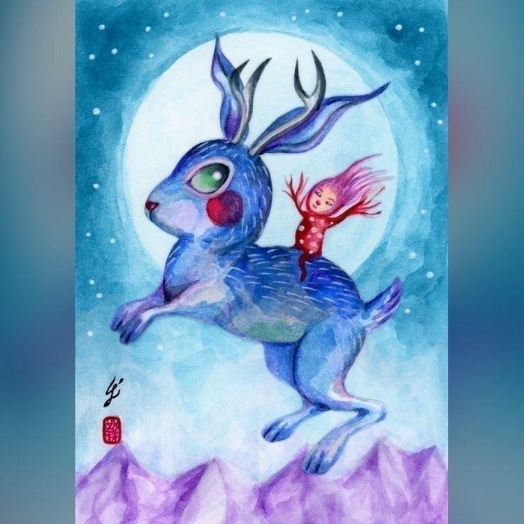 Jumping Moon, contribution Stra - carolinaseth | ello