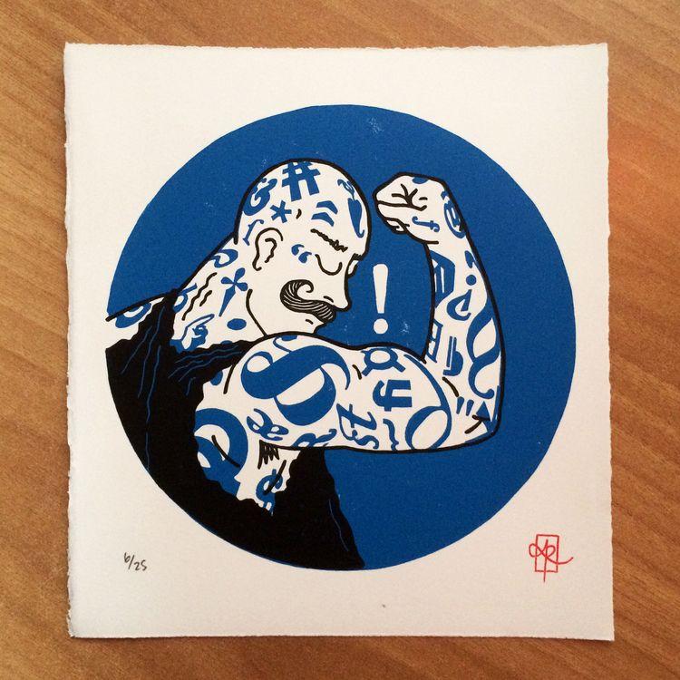"""print — """"Bold Weight"""", 2-colour - monografik   ello"""