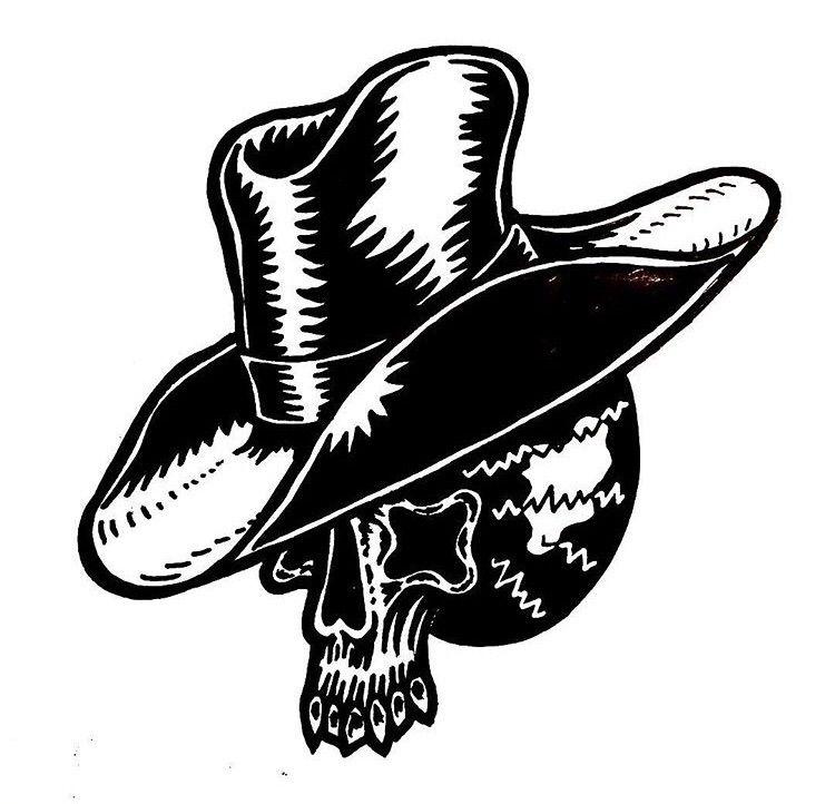 Yehaw -Ink paper - illustration - deathcave   ello