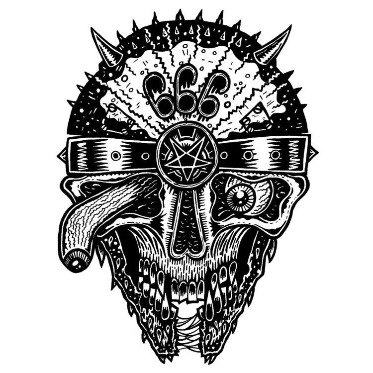 Die-llennium Falcon Demon -Ink  - deathcave | ello