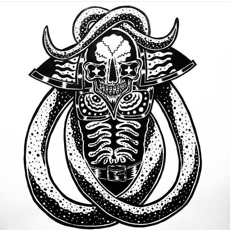 Tentacle Demon -Ink paper - illustration - deathcave | ello