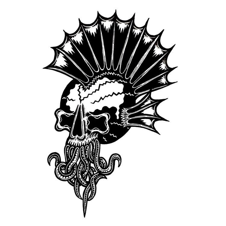 Tenta-Kill -Ink paper - illustration - deathcave   ello