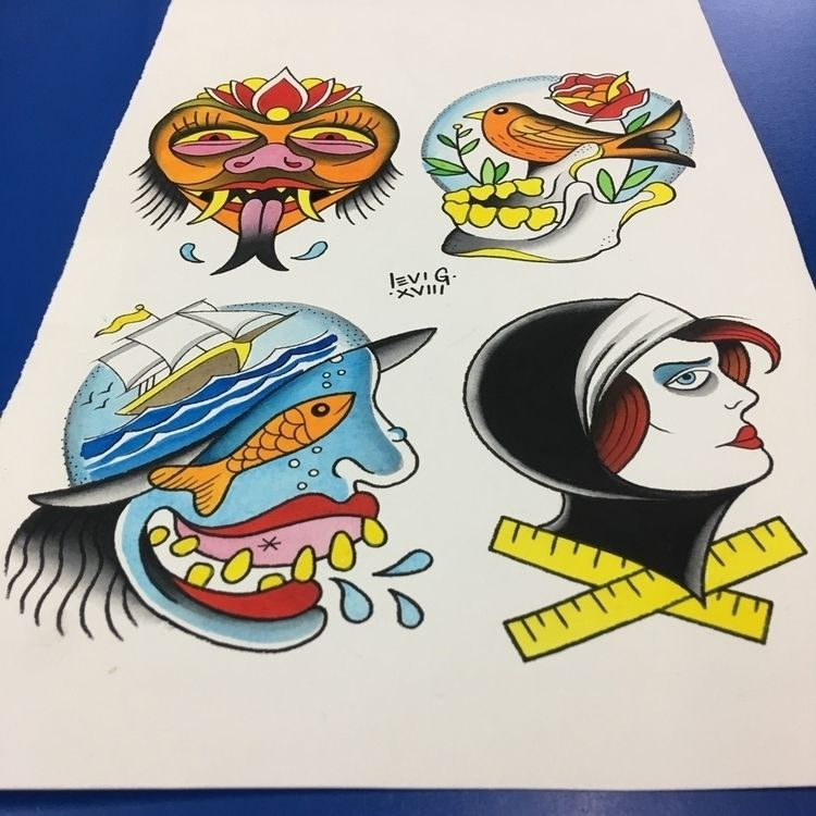 glamorous - tattooflash., traditionaltattoo - levigreenacres | ello