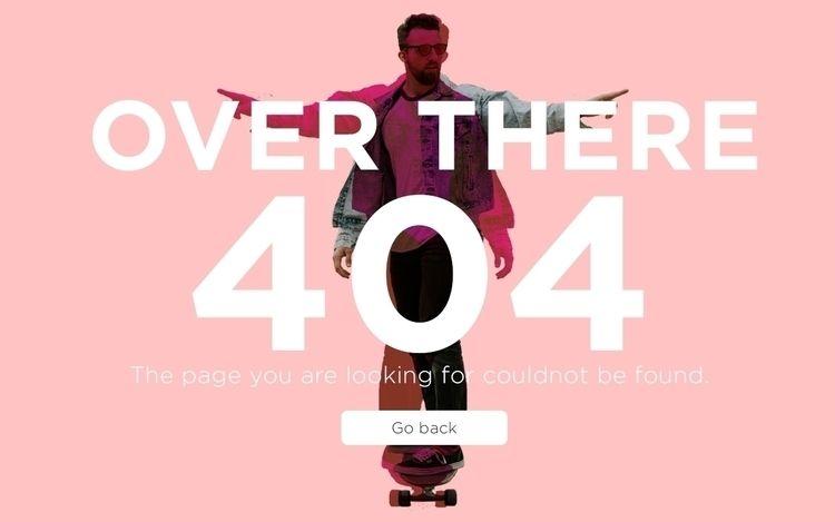 404 error UI - indigoes | ello