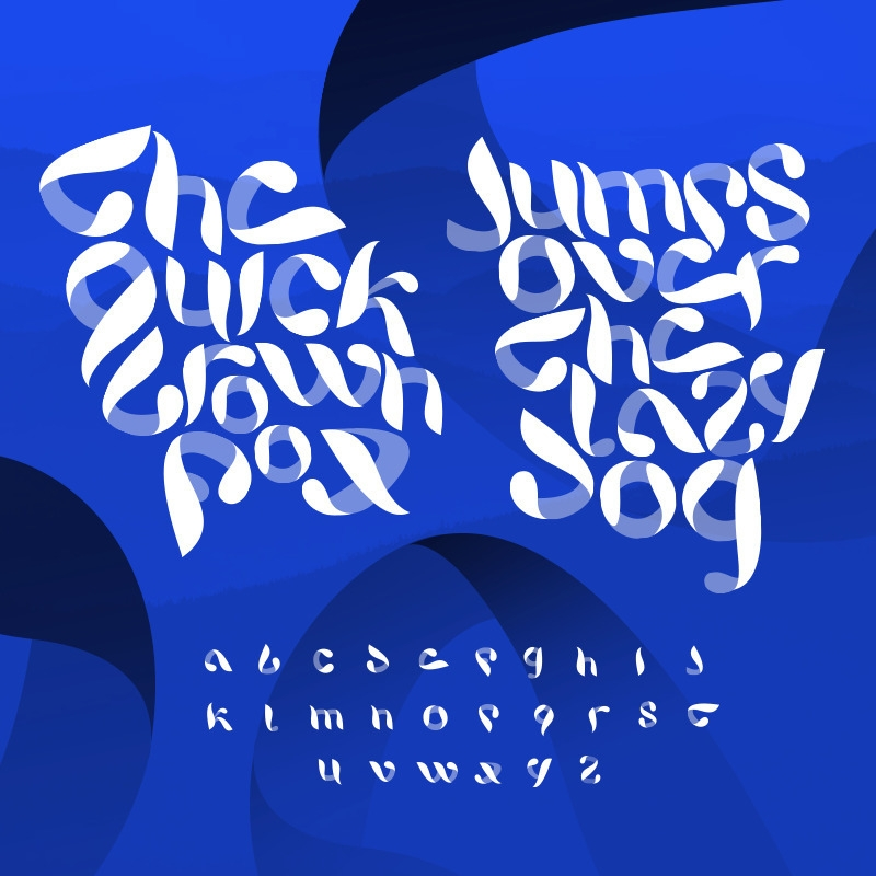 Experimental calligraphy font  - game4d   ello