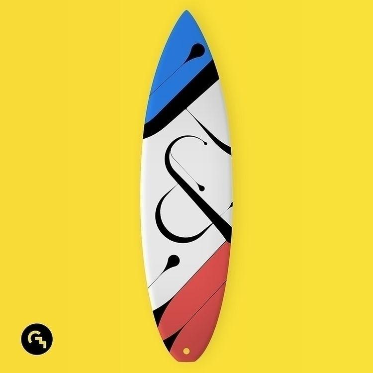 Surfboard design - art, typography - game4d | ello