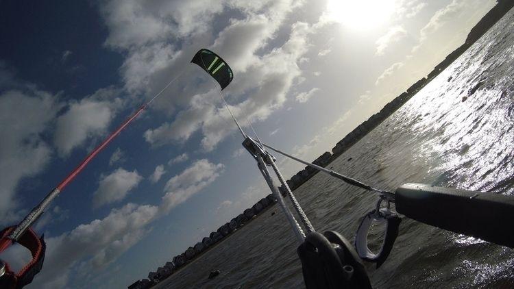 Riders eye view - kitesurfing, gopro - oceanromeo | ello