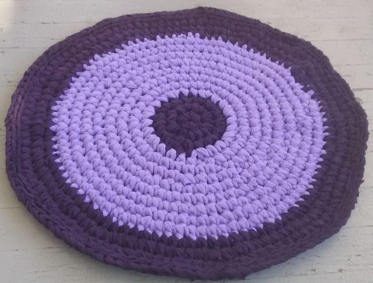 Handmade Crochet Rag Rug Bath M - maryherrigfiberarts   ello