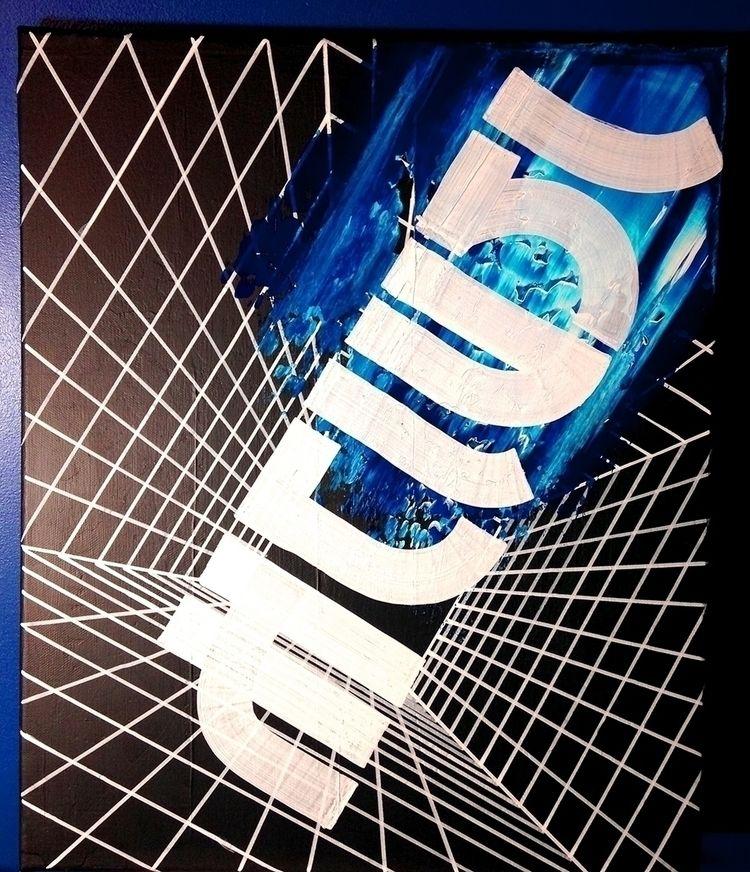 Acrylic paint canvas, 50 40 cm - nishe_ink | ello