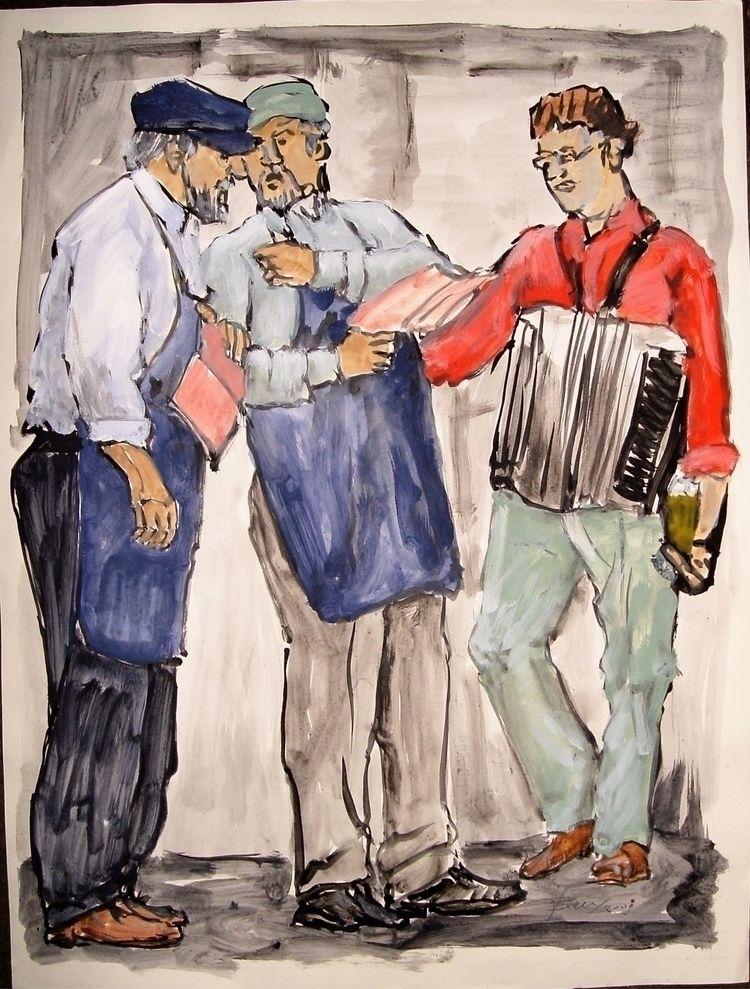 De zangers 2007 Acryl op papier - ben-peeters | ello