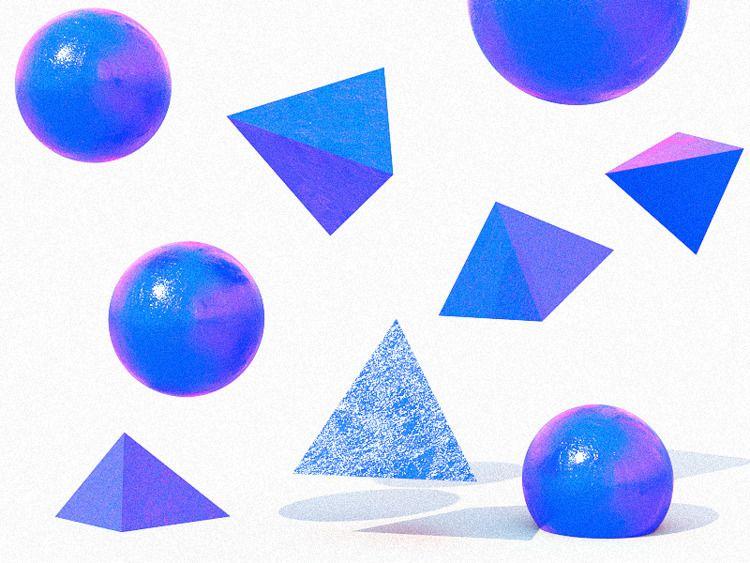 3d, design, composition, shapes - adamho | ello