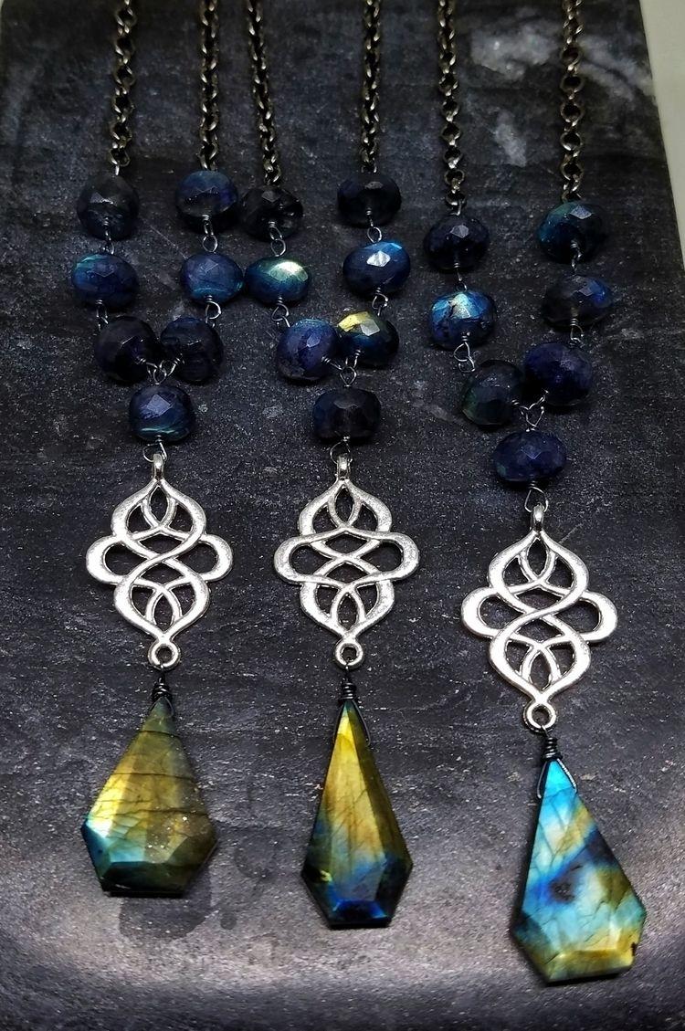 lolafaejewelry, labradorite, necklaces - lolafaejewelry | ello