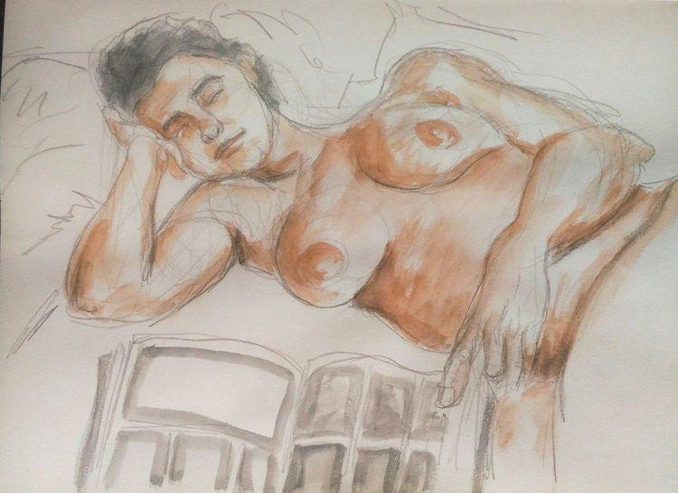 small sketch bedtime. pencil wa - pfelelep | ello