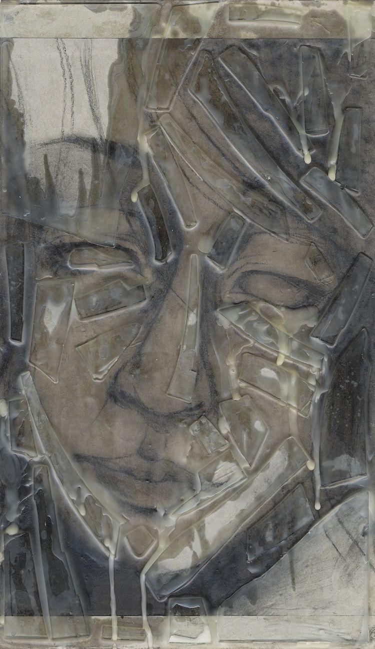"Encaustic Portrait II 8x16"" mel - fancypantsowl | ello"