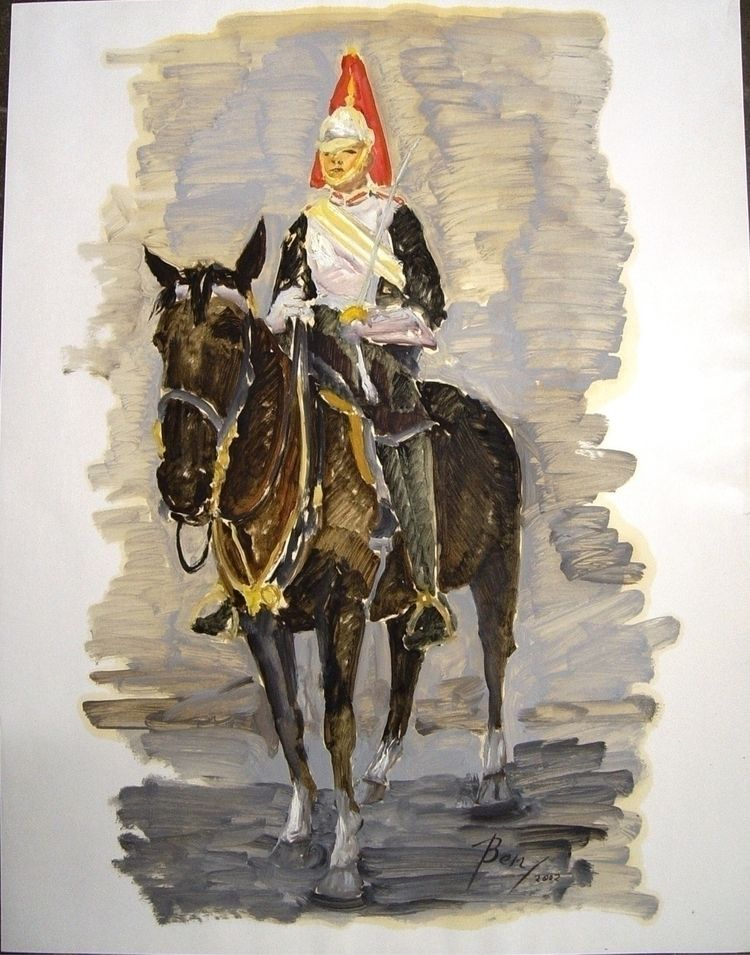 Horse guards 2002 Oil glossy pa - ben-peeters | ello