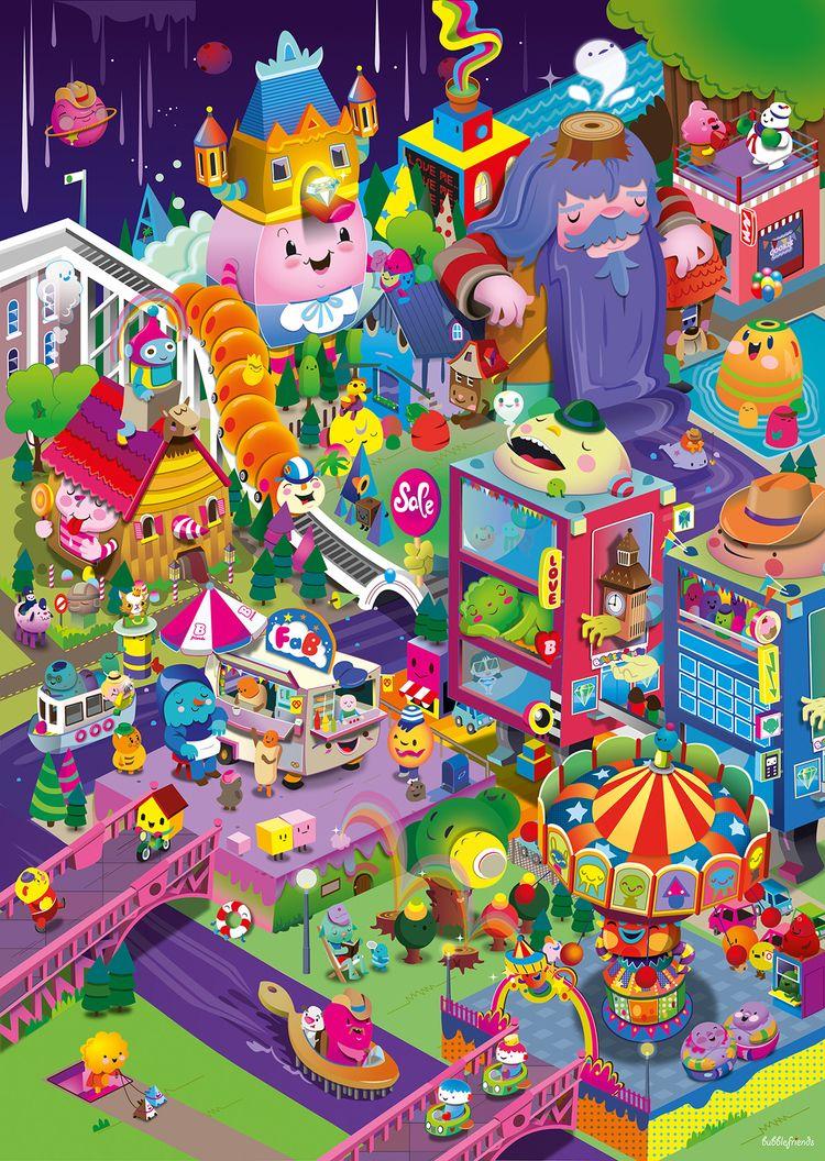 Colorcity - illustrator, illustration - bubblefriends   ello